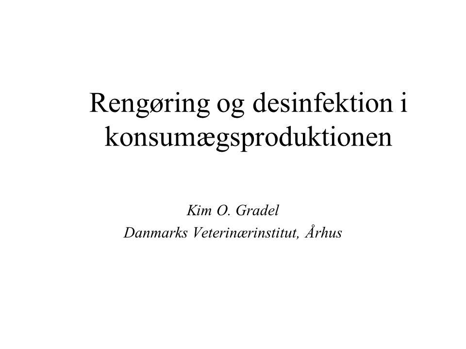 Rengøring og desinfektion i konsumægsproduktionen