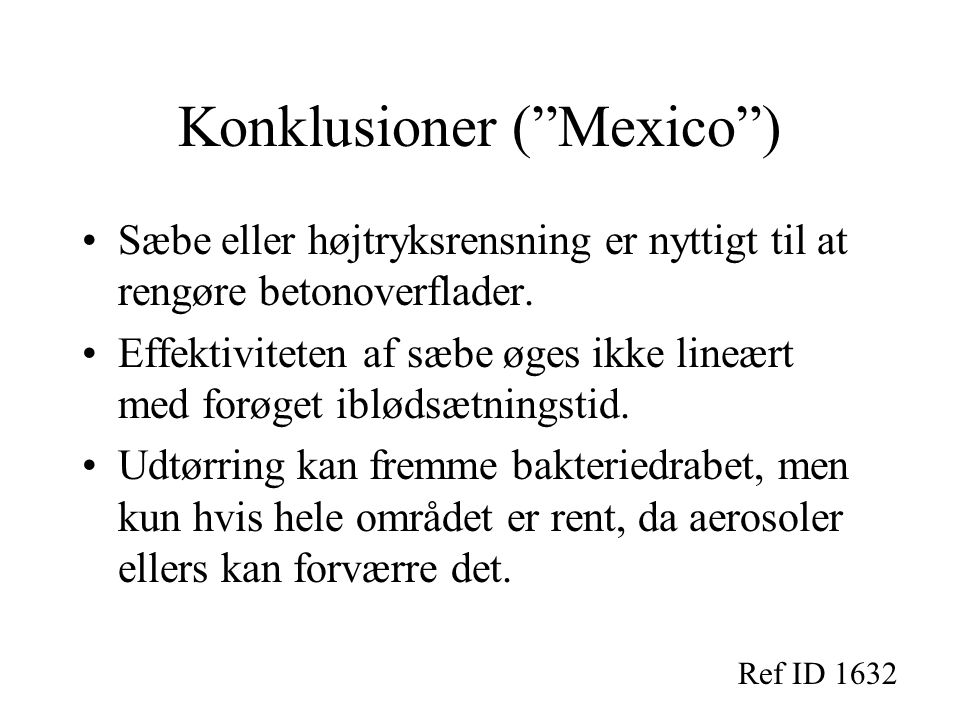 Konklusioner ( Mexico )