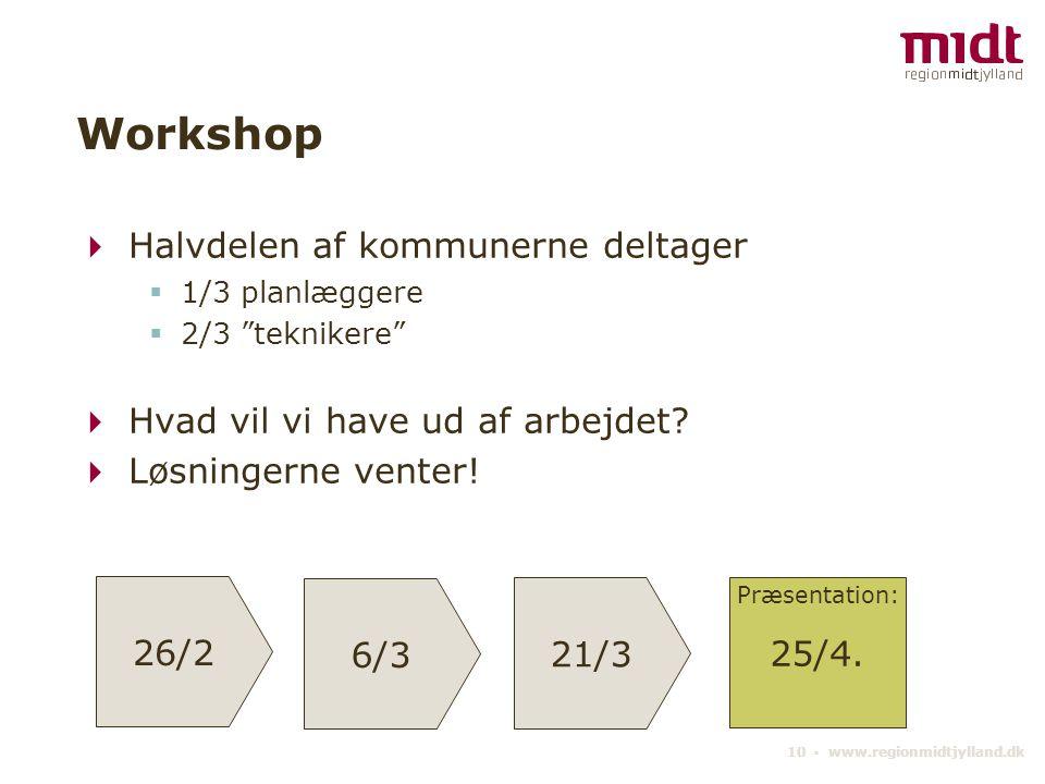 Workshop Halvdelen af kommunerne deltager