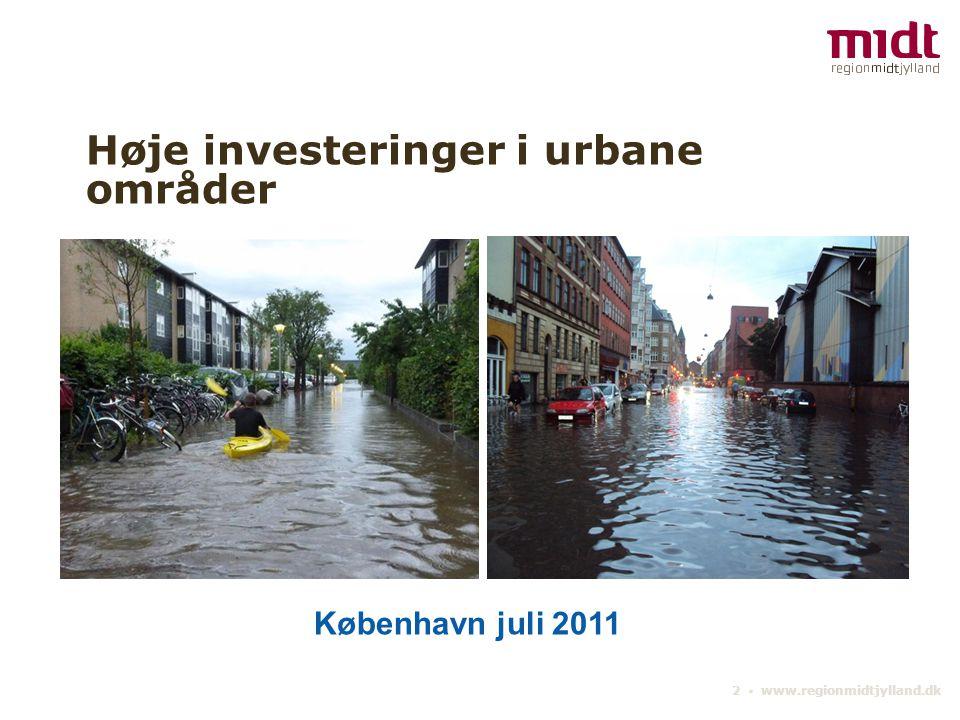 Høje investeringer i urbane områder