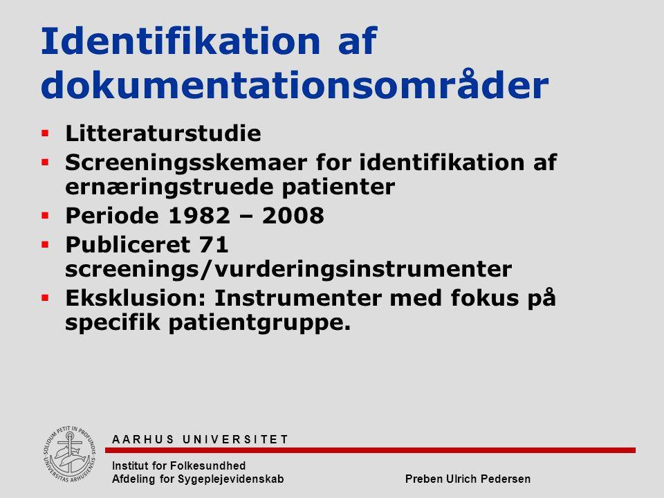 Identifikation af dokumentationsområder