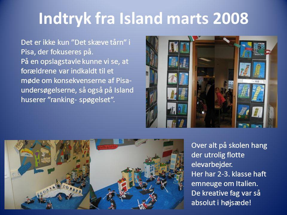 Indtryk fra Island marts 2008