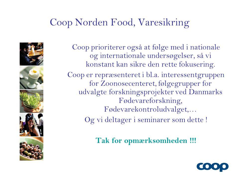 Coop Norden Food, Varesikring