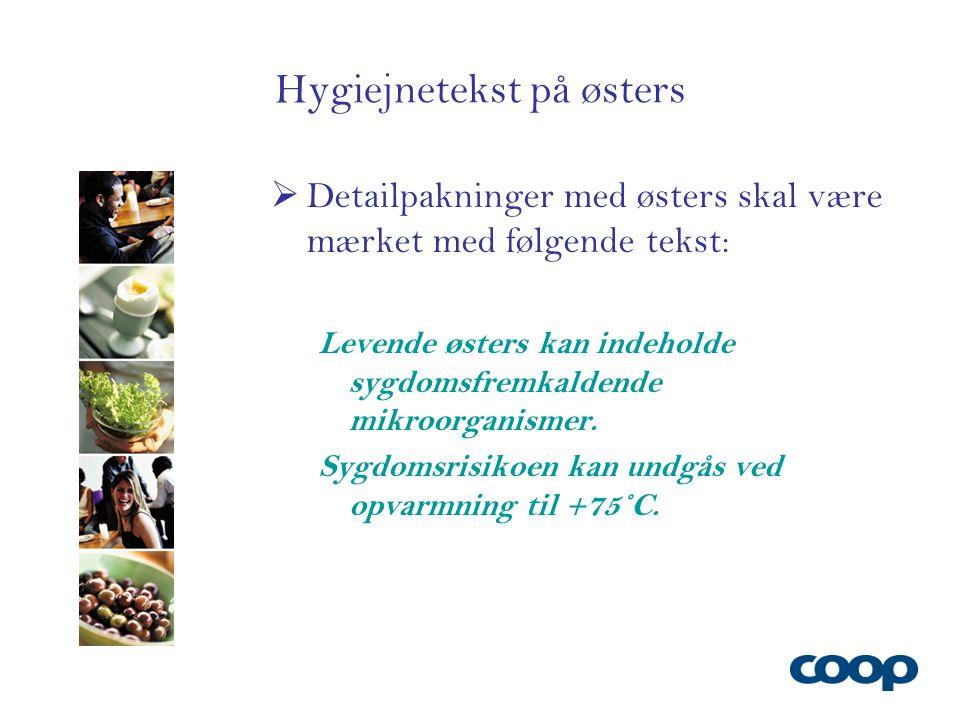 Hygiejnetekst på østers