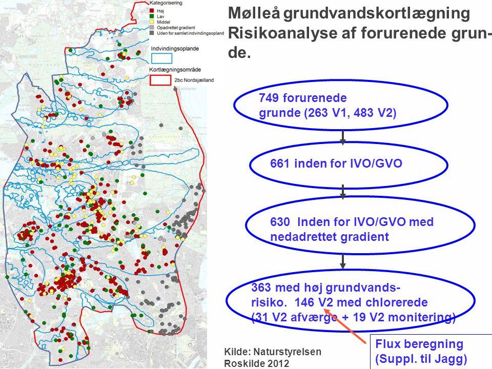 Mølleå grundvandskortlægning Risikoanalyse af forurenede grun- de.