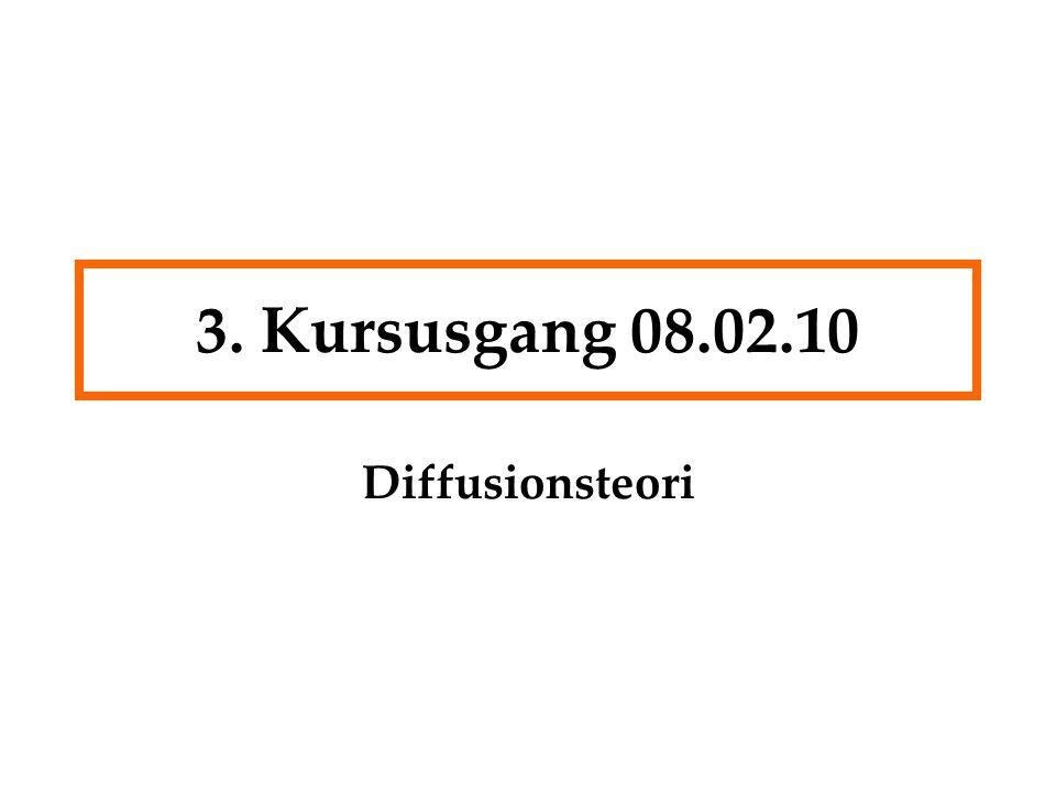 3. Kursusgang 08.02.10 Diffusionsteori
