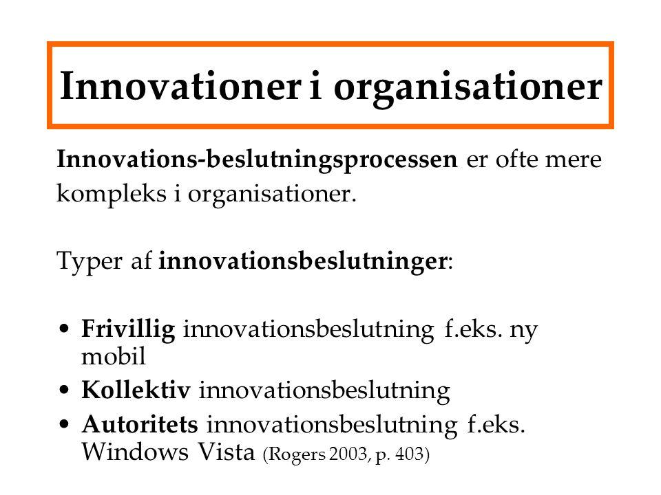 Innovationer i organisationer