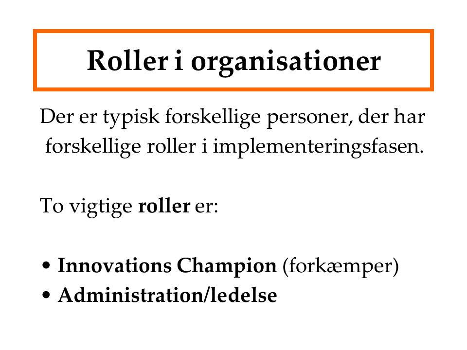 Roller i organisationer