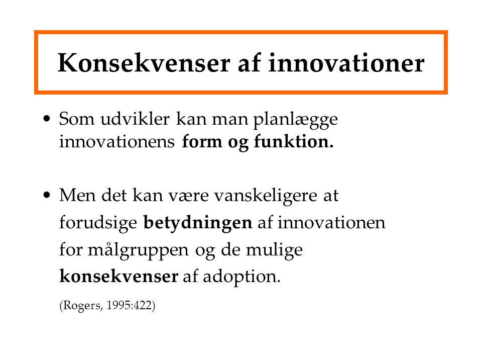 Konsekvenser af innovationer
