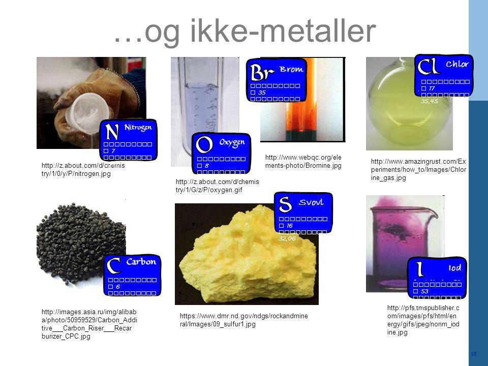…og ikke-metaller Chlor Brom Svovl