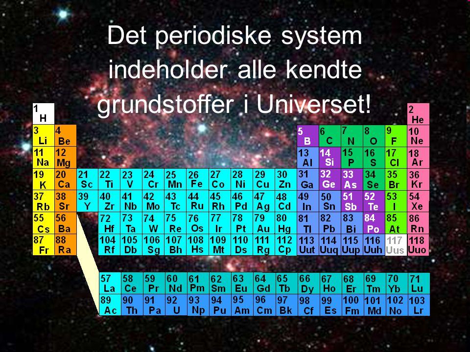 indeholder alle kendte grundstoffer i Universet!