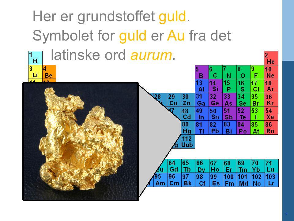 Her er grundstoffet guld.