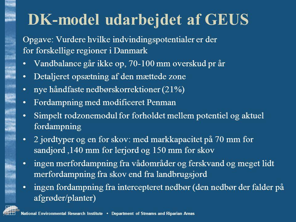 DK-model udarbejdet af GEUS