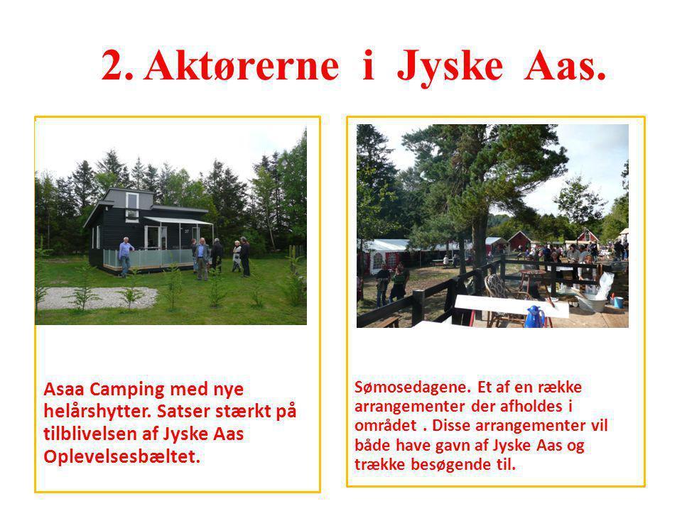 2. Aktørerne i Jyske Aas. Asaa Camping med nye helårshytter. Satser stærkt på tilblivelsen af Jyske Aas Oplevelsesbæltet.