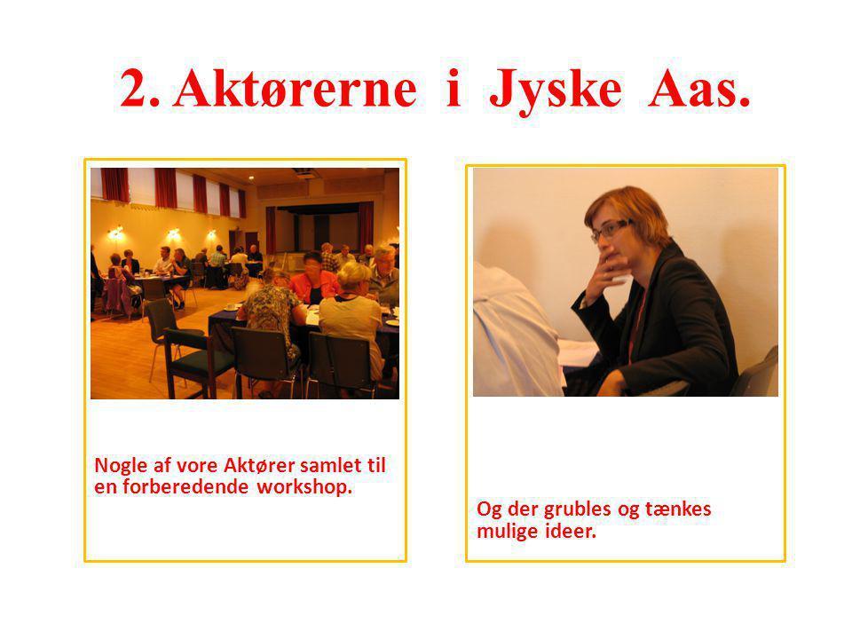 2. Aktørerne i Jyske Aas. Nogle af vore Aktører samlet til en forberedende workshop.