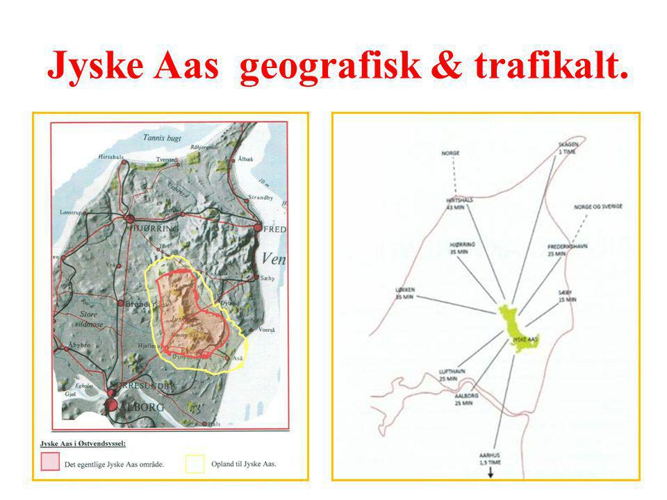 Jyske Aas geografisk & trafikalt.