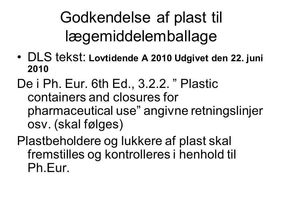 Godkendelse af plast til lægemiddelemballage