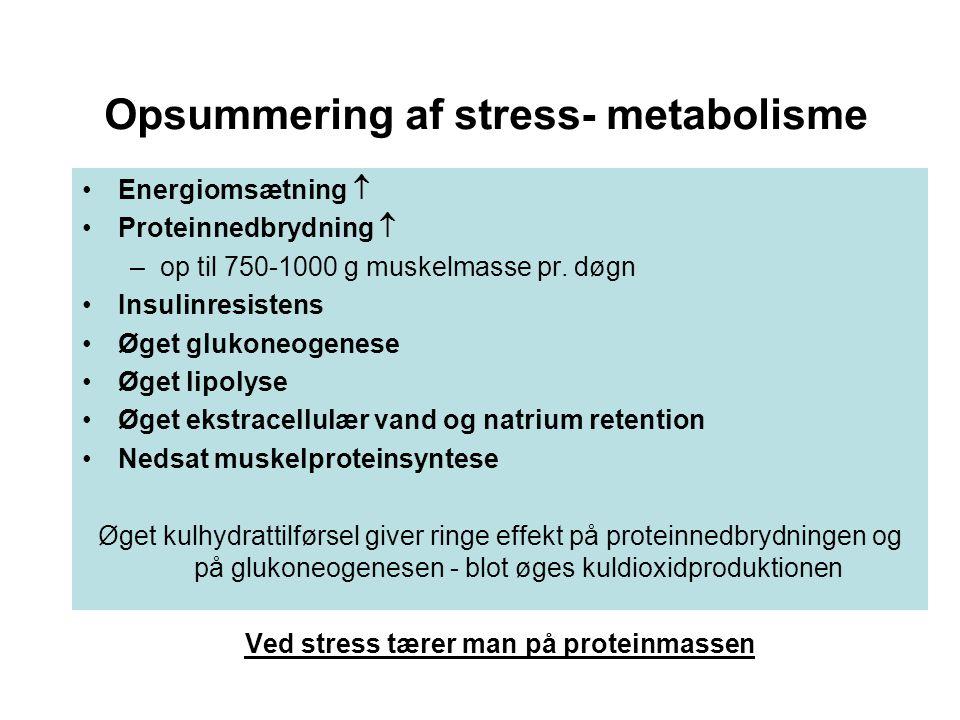 Opsummering af stress- metabolisme