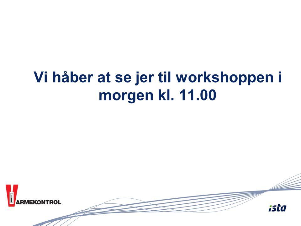 Vi håber at se jer til workshoppen i morgen kl. 11.00