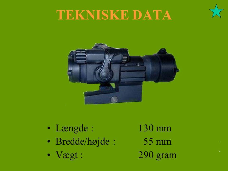 TEKNISKE DATA Længde : 130 mm Bredde/højde : 55 mm Vægt : 290 gram