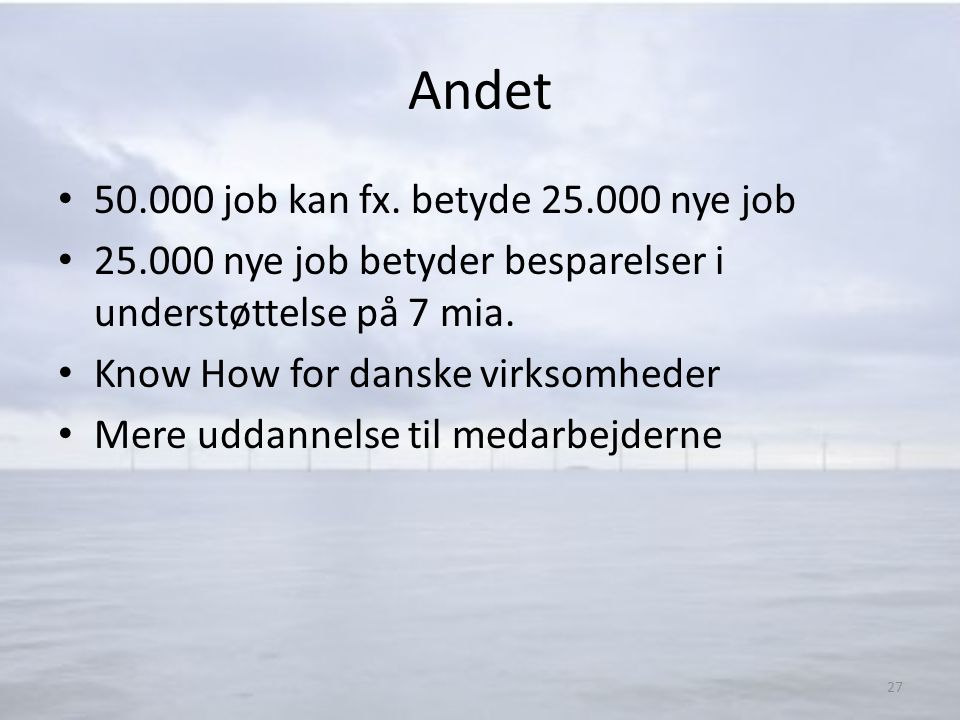 Andet 50.000 job kan fx. betyde 25.000 nye job