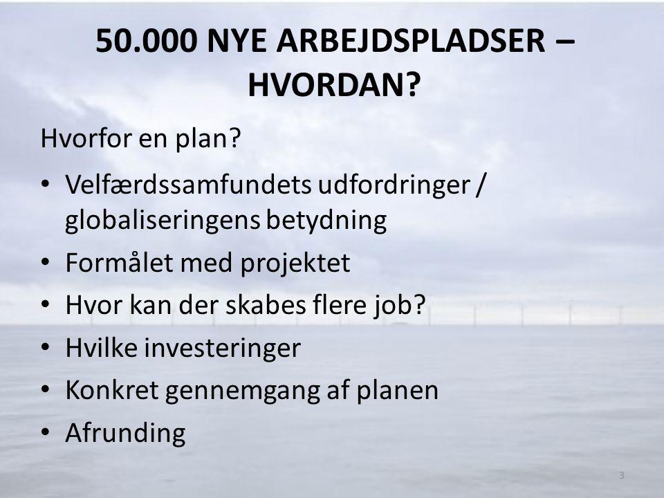50.000 NYE ARBEJDSPLADSER – HVORDAN