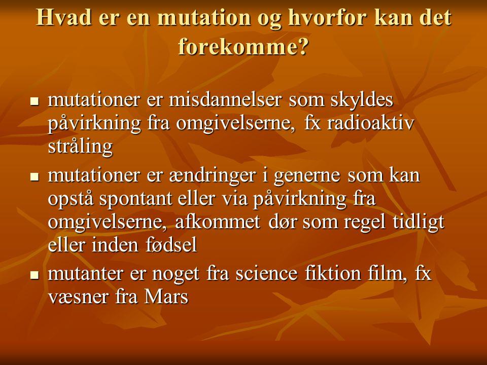 Hvad er en mutation og hvorfor kan det forekomme