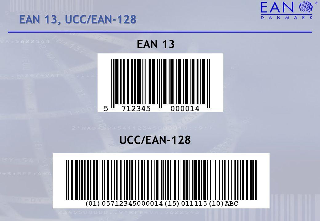 EAN 13, UCC/EAN-128 EAN 13 UCC/EAN-128 5 712345 000014