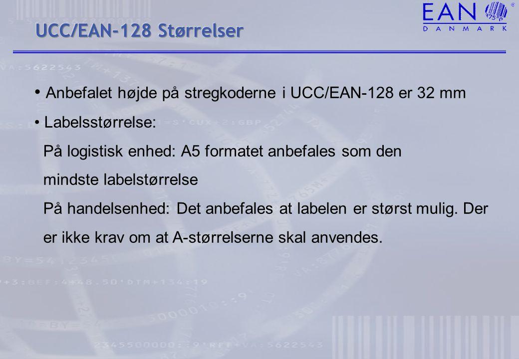 Anbefalet højde på stregkoderne i UCC/EAN-128 er 32 mm