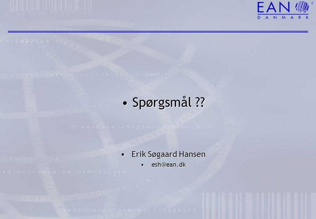 Spørgsmål Erik Søgaard Hansen esh@ean.dk