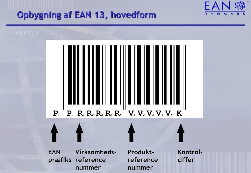 Opbygning af EAN 13, hovedform