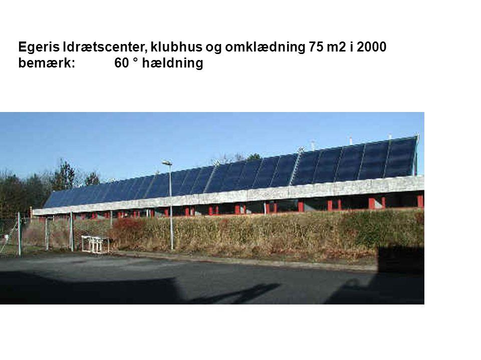 Egeris Idrætscenter, klubhus og omklædning 75 m2 i 2000