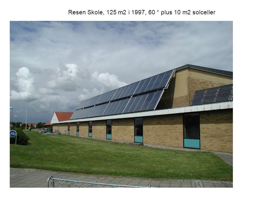 Resen Skole, 125 m2 i 1997, 60 ° plus 10 m2 solceller