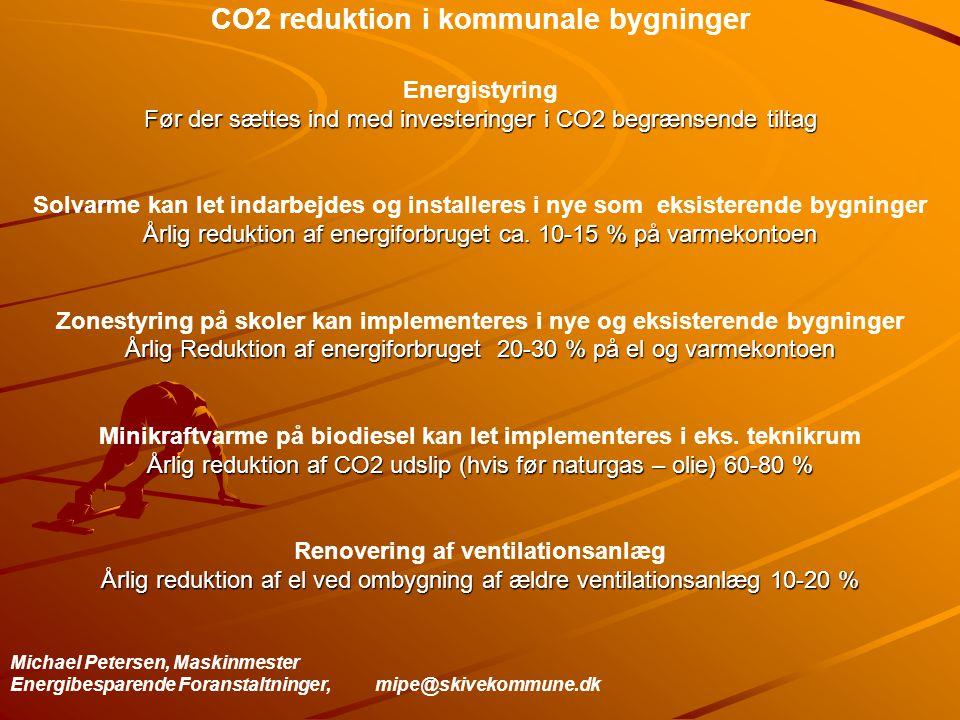 CO2 reduktion i kommunale bygninger