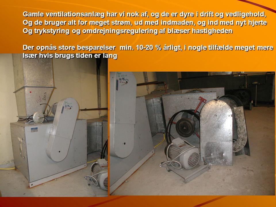 Gamle ventilationsanlæg har vi nok af, og de er dyre i drift og vedligehold,