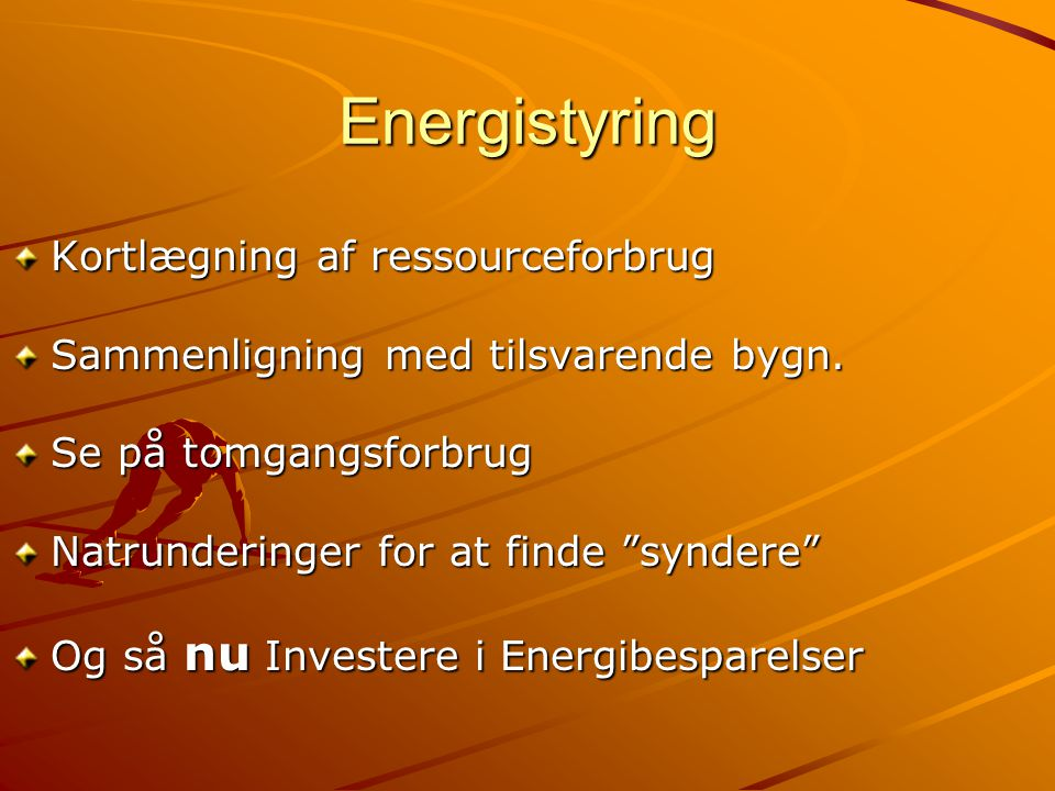 Energistyring Kortlægning af ressourceforbrug
