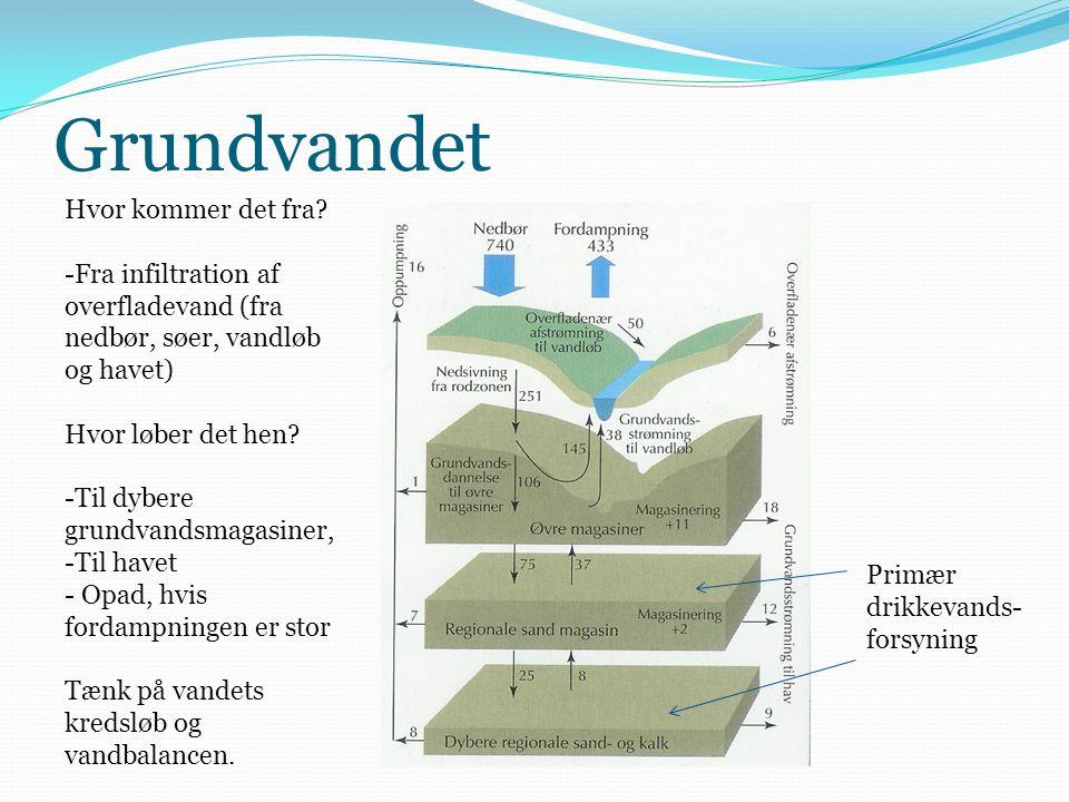 Grundvandet Hvor kommer det fra