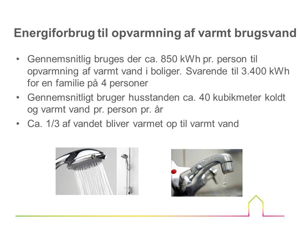 Energiforbrug til opvarmning af varmt brugsvand