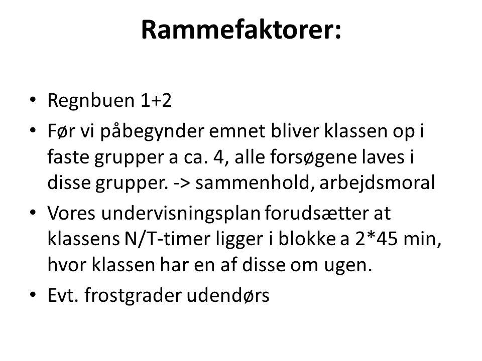 Rammefaktorer: Regnbuen 1+2