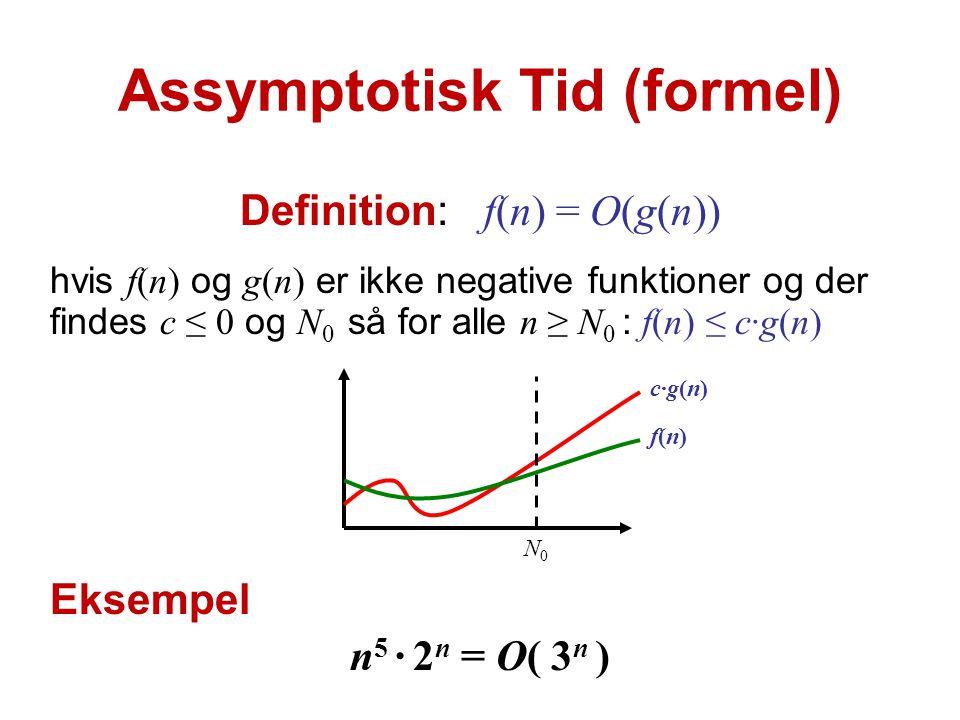 Assymptotisk Tid (formel)