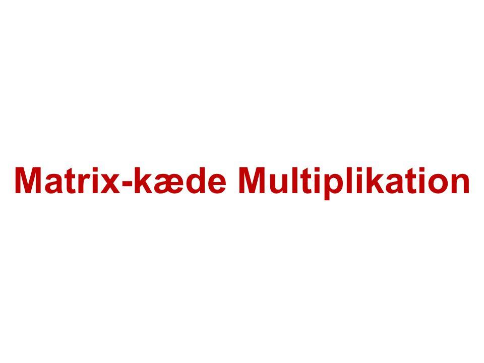 Matrix-kæde Multiplikation