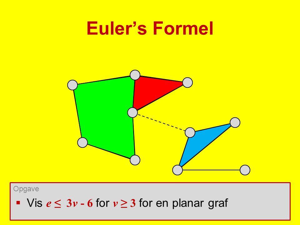 Euler's Formel Opgave Vis e ≤ 3v - 6 for v ≥ 3 for en planar graf