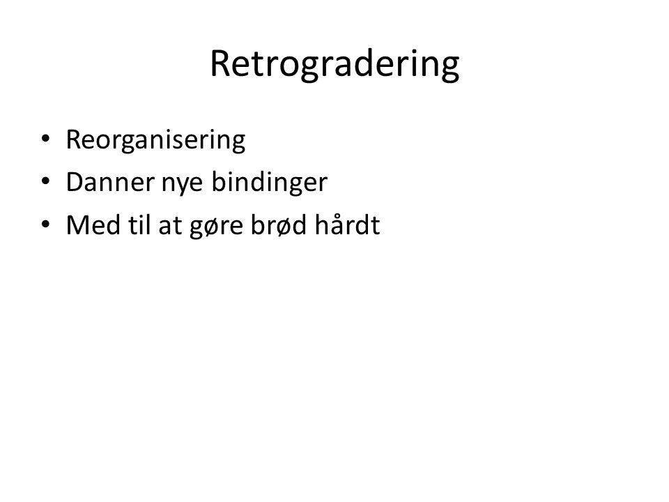 Retrogradering Reorganisering Danner nye bindinger