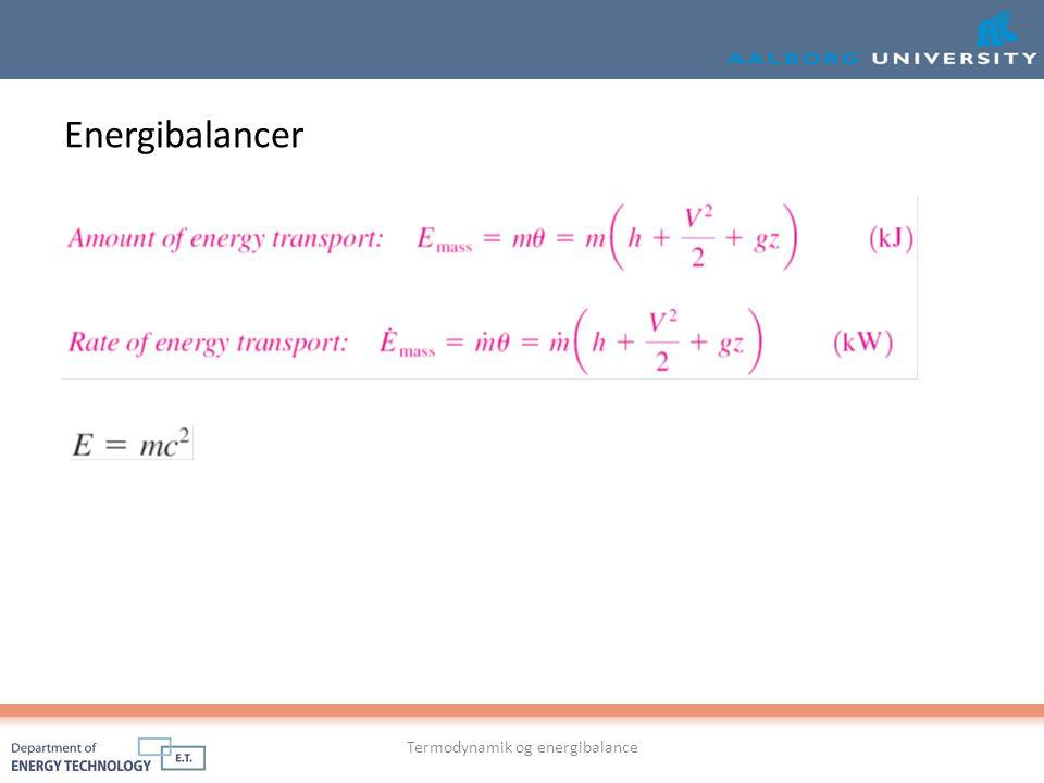Termodynamik og energibalance