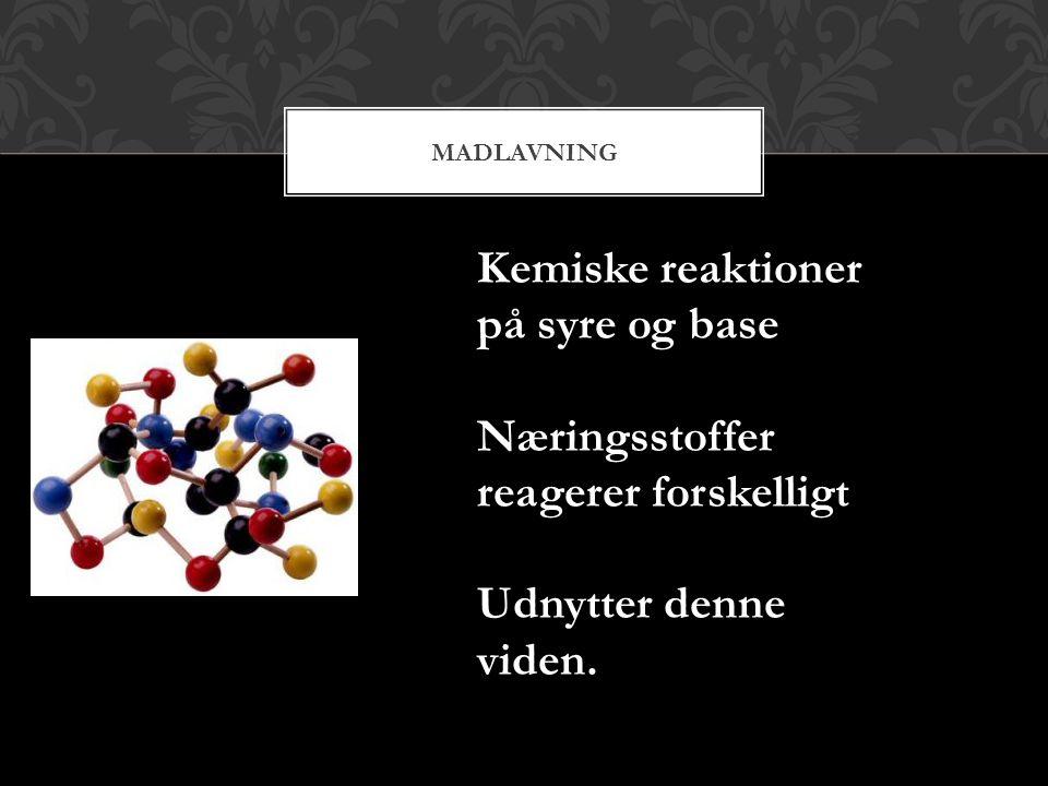 Kemiske reaktioner på syre og base