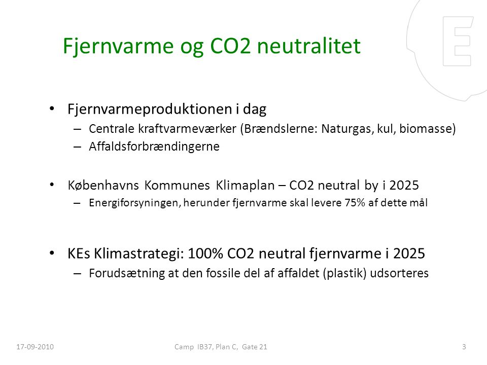 Fjernvarme og CO2 neutralitet