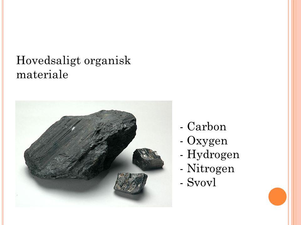 Hovedsaligt organisk materiale