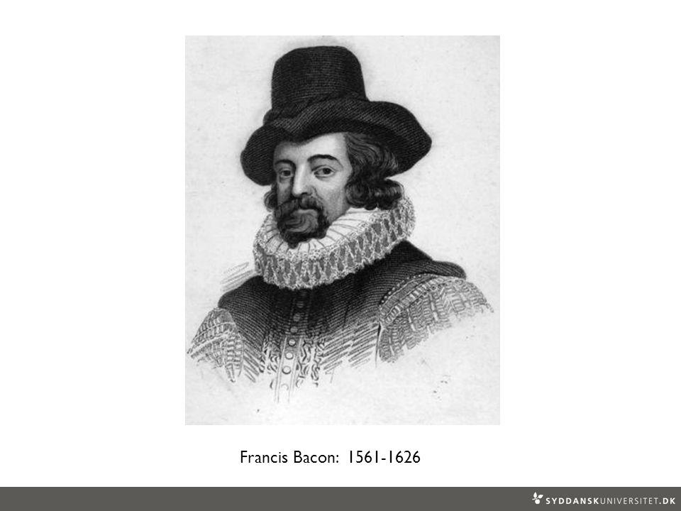 Francis Bacon: 1561-1626