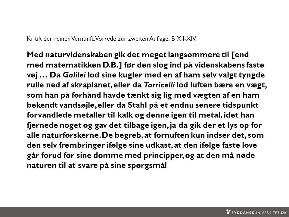 Kritik der reinen Vernunft, Vorrede zur zweiten Auflage, B XII-XIV: