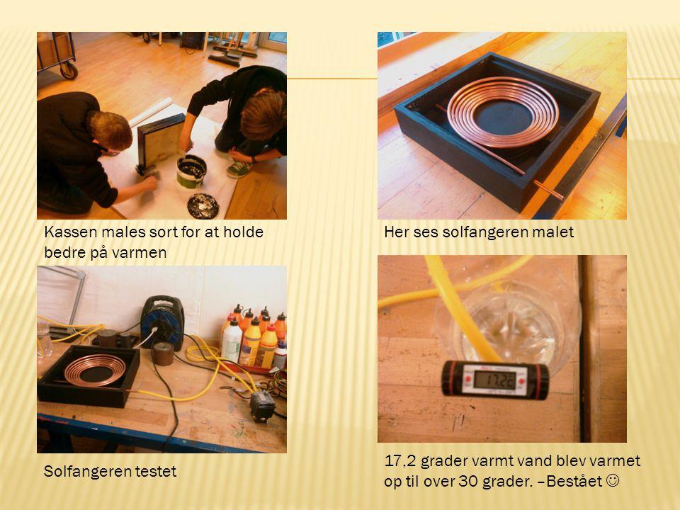 Kassen males sort for at holde bedre på varmen